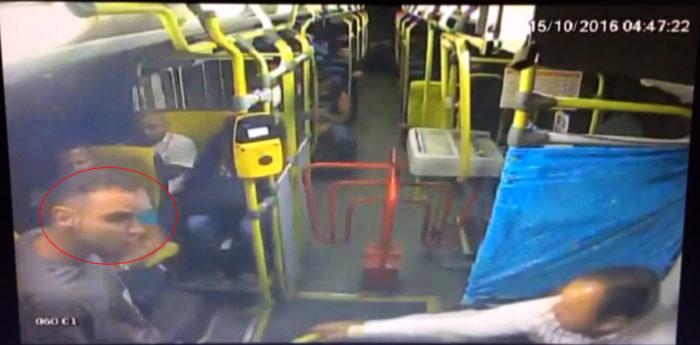Polícia pede ajuda para localizar assaltante que atirou em motorista de ônibus
