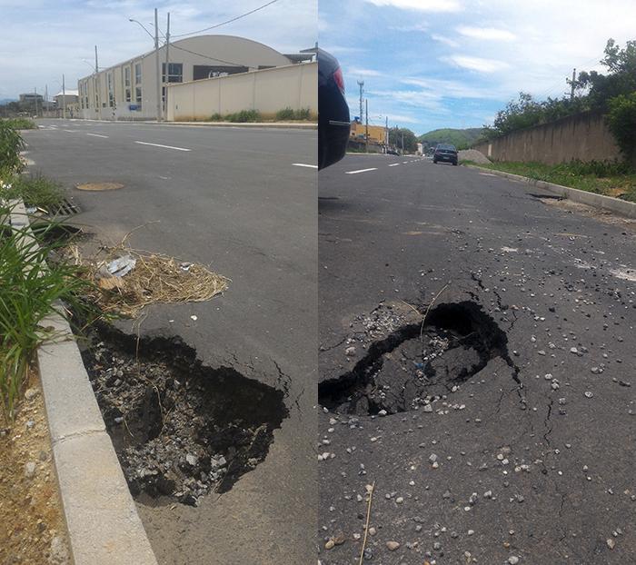 Crateras no trecho da estrada entregue ao público há menos de um mês (2ª edição – revisada)