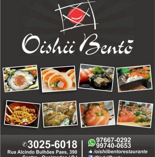 OISHI BENTO – 10% dinheiro / 5% cartão (Ver Condições)