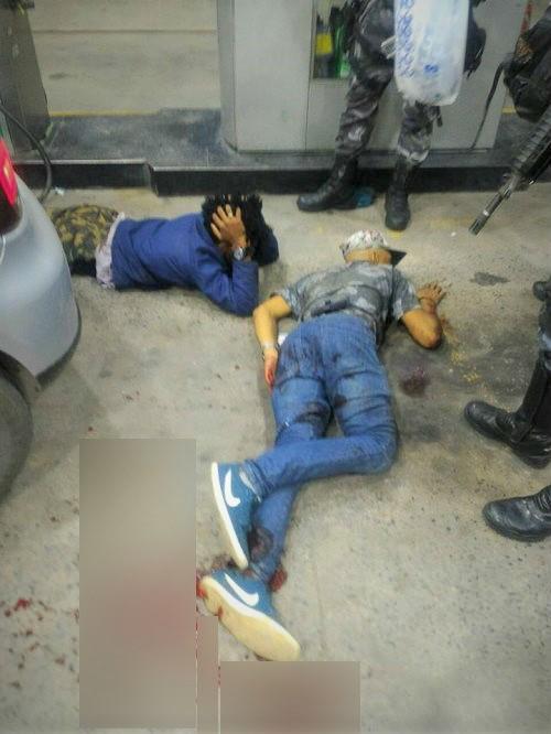 Tentativa frustrada de assalto no 'Tio Luiz' na noite deste sábado: 3 presos, um deles gravemente ferido
