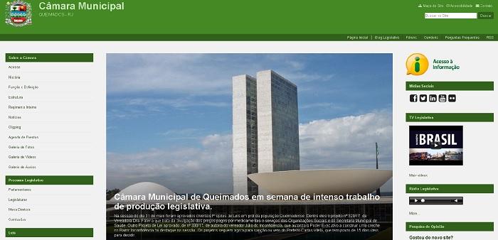 Câmara Municipal de Queimados já tem Portal na Internet com informações sobre suas atividades