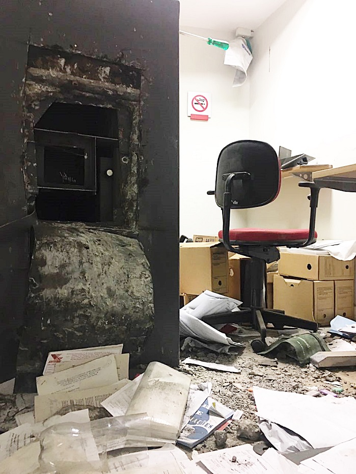 Cofre de agência bancária da UFRRJ de Seropédica é arrombado dentro do campus