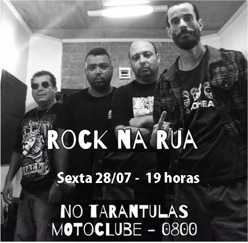 Rock na Rua nesta sexta, 28/07, nos Tarântulas, com entrada grátis