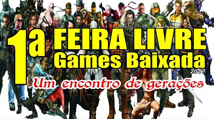 Primeira Feira Livre de Games da Baixada será em Queimados no domingo, 15/10