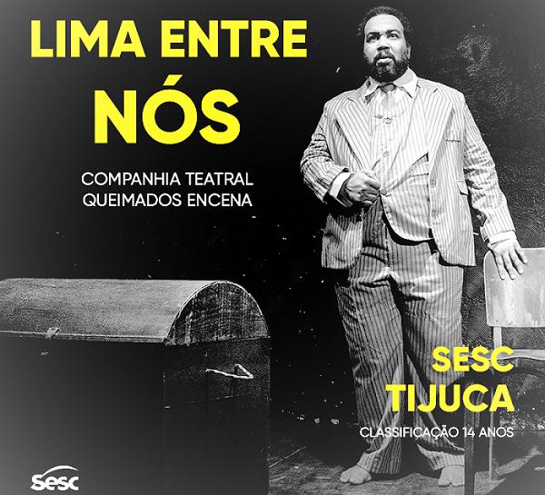 O ator queimadense Leandro Santana vive Lima Barreto no Teatro do SESC na Tijuca