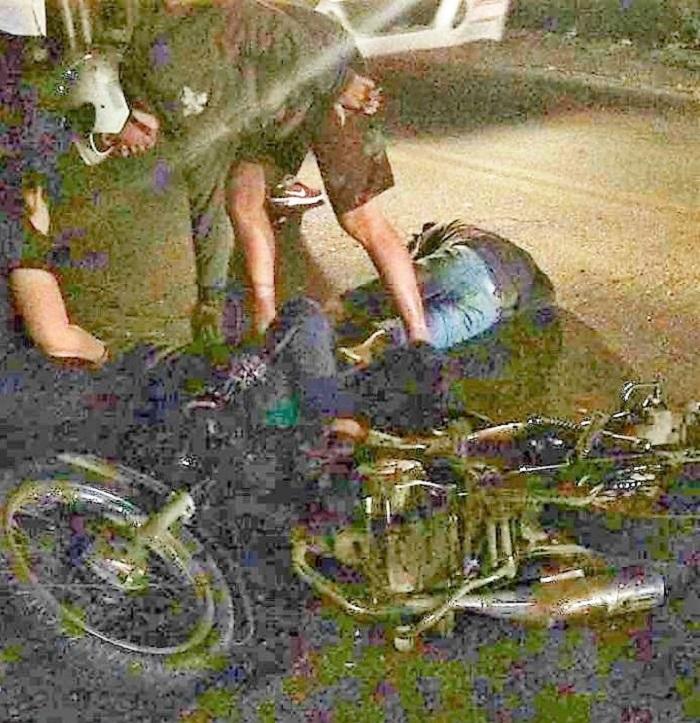 Acidente na Dutra, na entrada de Queimados, na noite da quarta-feira, 09/05