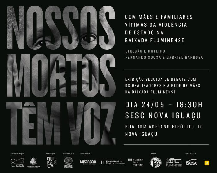 """Documentário """"Nossos Mortos têm voz"""", terá exibição no Teatro do SESC na próxima quinta"""