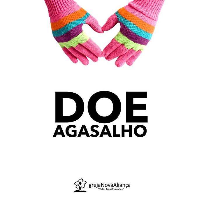 Igreja Nova Aliança está arrecadando doações para a Campanha de Doação de Agasalhos até dia 10/06