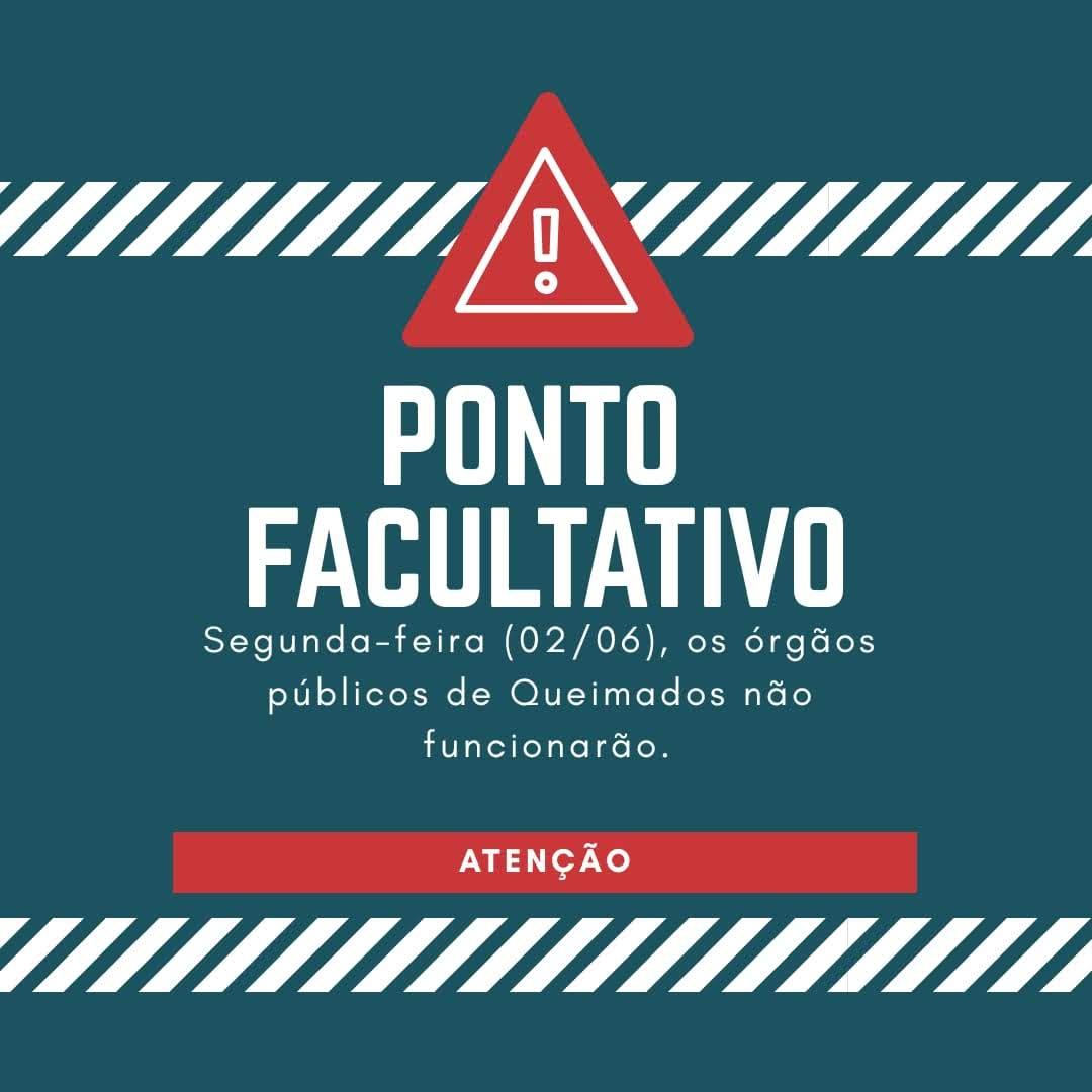 Ponto facultativo para servidores municipais de Queimados no dia 02