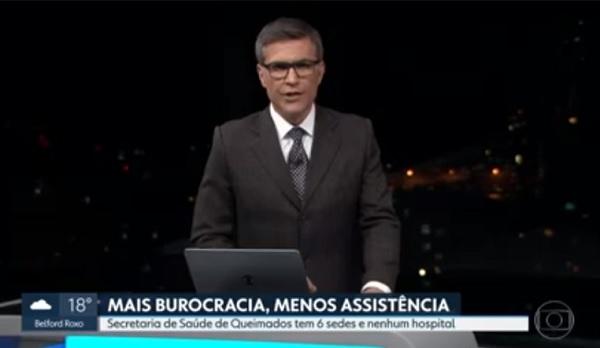 TV Globo levanta polêmica sobre nova sede da Secretaria de Saúde de Queimados