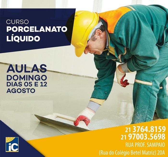 Curso de Porcelanato Líquido do Instituto da Construção em Queimados será neste domingo, 05/08
