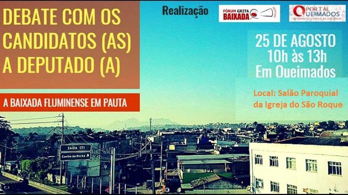 'Grita Baixada' promove debate em Queimados com candidatos a Deputado neste sábado, 25/08