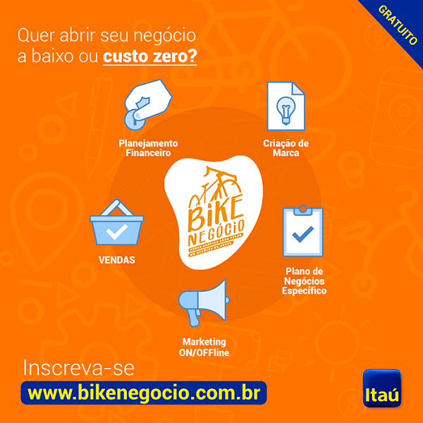 Abra seu próprio negócio com ajuda do Banco Itaú. Inscrições somente até às 23h 55min desta quarta-feira, 03/10, para moradores de Queimados e Região.
