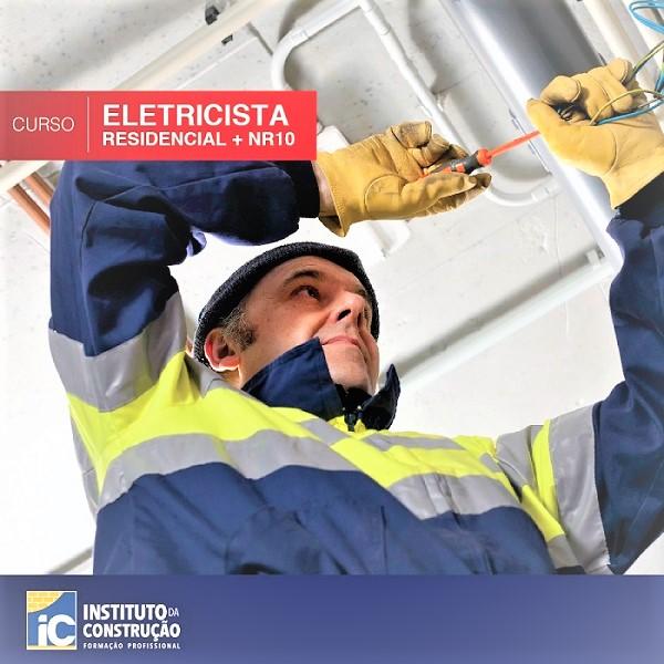 Ainda há vagas para o curso de eletricista do Instituto da Construção: início imediato, vagas limitadas