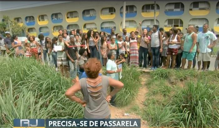 RJ TV pressiona governos de Queimados e Japeri pela construção de uma passarela ligando Vila Central ao Jardim Delamare
