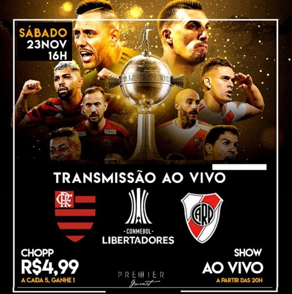 Que tal assistir à final da Libertadores no aconchego do Premier Flat ?