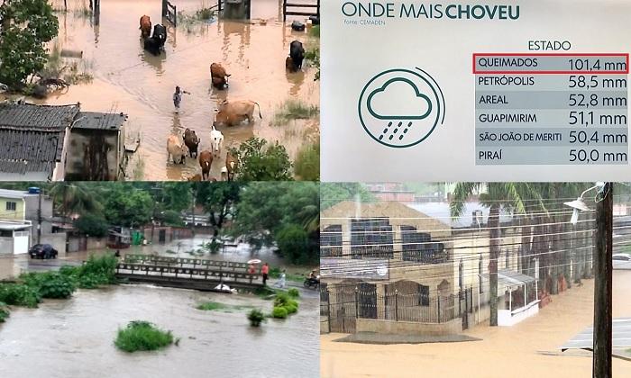 Queimados foi o município do estado do rio mais atingido pelas chuvas de ontem