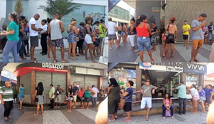 Prefeito de Queimados retira restrições ao funcionamento do comércio e é grande a movimentação de pessoas no centro da cidade