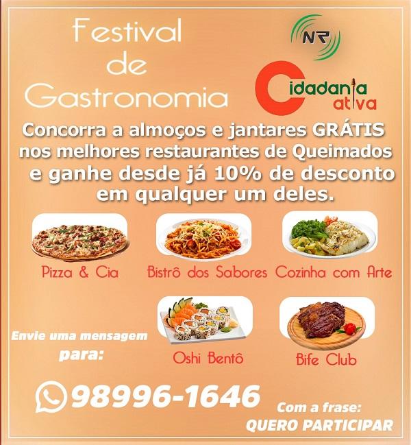 Festival de Gastronomia do Cidadania Ativa: um jogo que você ganha sempre