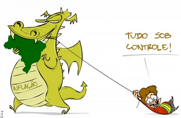 Com inflação recorde, Brasil fica estagnado
