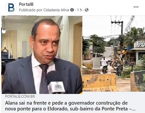 Max Lemos contesta informação do Portal e envia documentos provando que foi o primeiro a pedir ao governo do Estado a construção da nova ponte do Eldorado