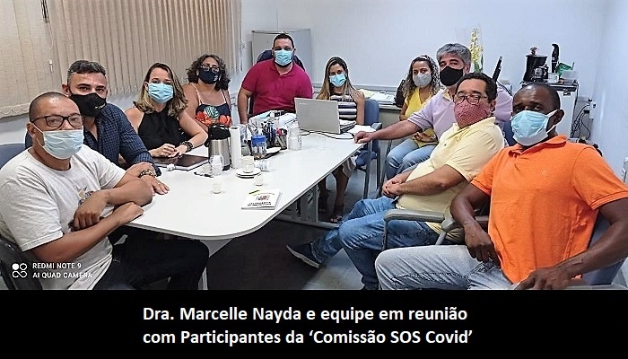 Secretária recebe 'Comissão SOS Covid' e diz que está empenhada em reativar leitos do Hospital de Campanha de Queimados