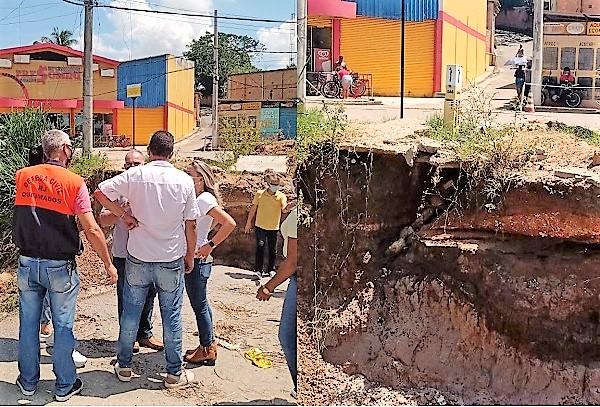 Prefeito decreta situação de emergência em área atingida por enxurrada na tarde da sexta-feira 19/03
