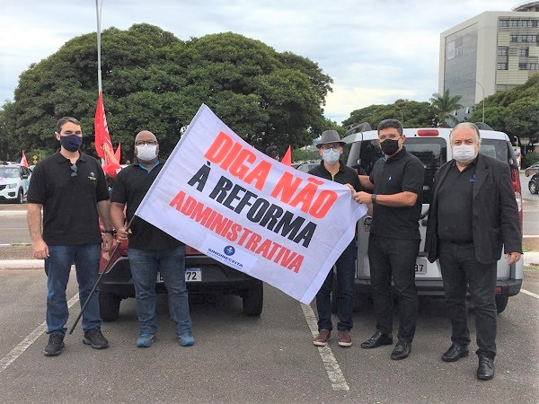 Policiais Federais e dezenas de outras categorias do serviço público se mobilizam contra proposta de reforma administrativa do governo Bolsonaro
