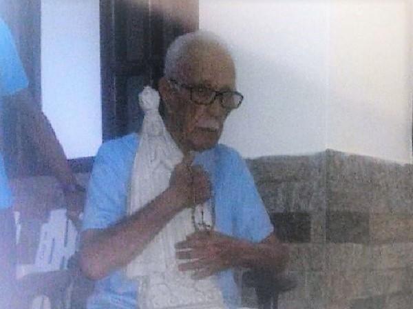 Faleceu hoje aos 101 anos de idade o líder católico queimadense Jorge Felipe Alves